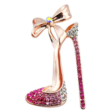 2016 New Arrival High-Heeled Shoes Brooches High Quality Fine Jewelry Nickel women wedding and party jewelry