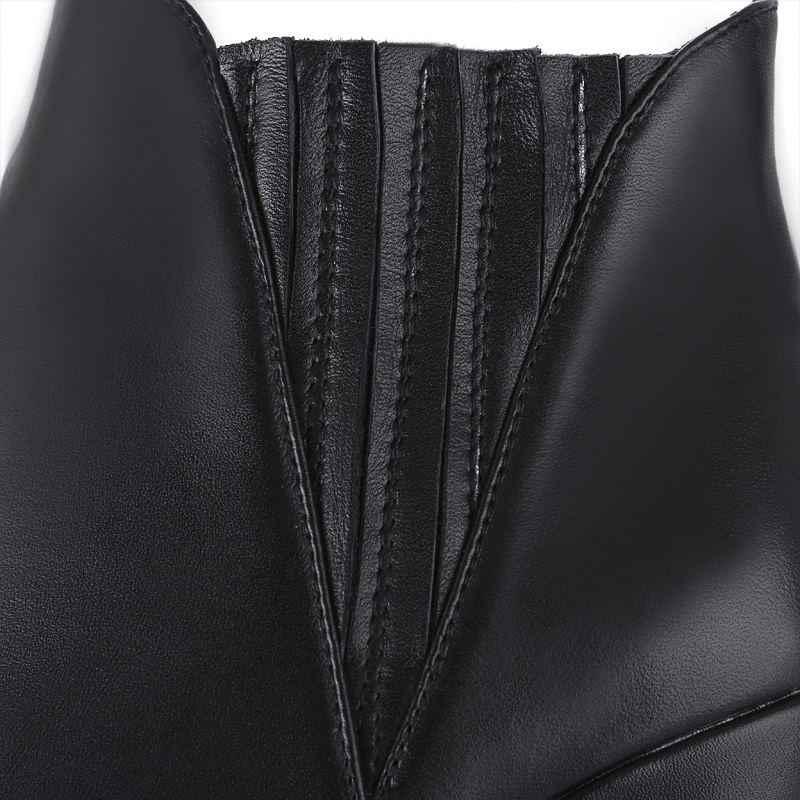ALLBITEFO moda marka hakiki deri yüksek topuklu platformu kadın botları yüksek topuklu kadın ayakkabıları kız ayakkabı botas femininas