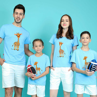 Summer New Pattern Parenting Dress Summer Wear Whole Family Dress One Home Four Mouth Lovers Summer