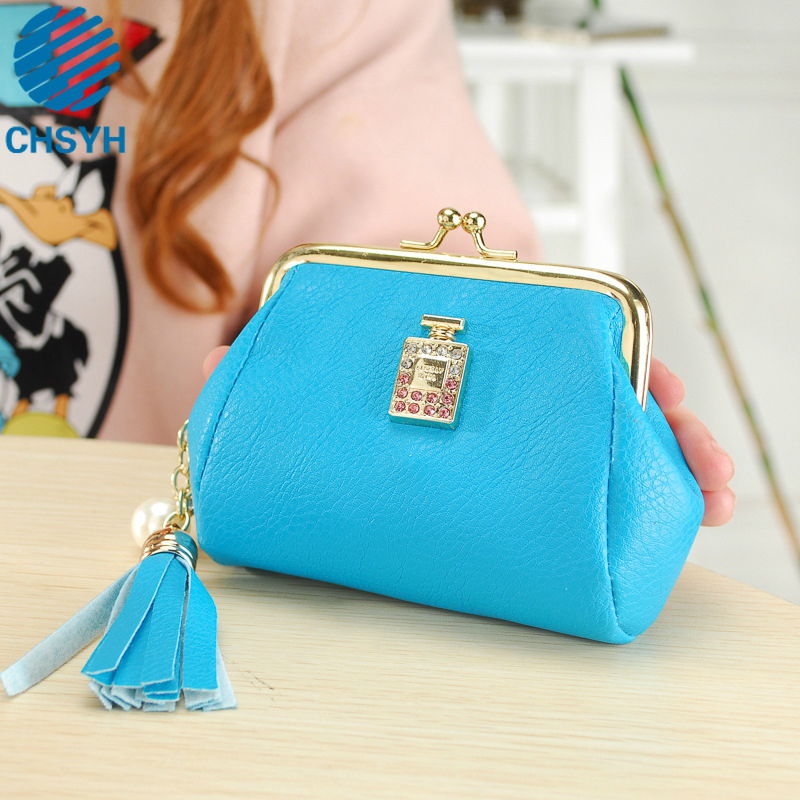 Wholesale Zero Wallet New Women Casual Tassel Purse Handbag Ladies Perfume Bottle Lovely Small Bags
