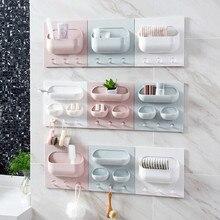 Многофункциональная кухонная крепкая стойка для пасты, настенная пластиковая стойка, экономит место для ванной, кухни, мелких предметов, крепкая коробка