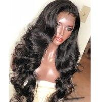 Парики из натуральных волос на кружевной основе бразильские волосы натуральные волосы лента спереди бесклеевая кружевная Лента 250 плотнос