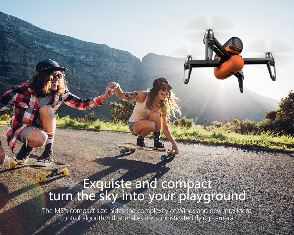 M5 Drone with Camera HD FPV Wifi Selfie Smart Drones 720P Optical Flow GPS RC Quadcopter Multicopter Quad Dron VS DJI Mavic Pro