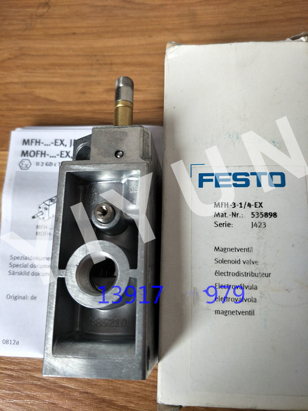 MFH-3-1/4-S 7959 MFH-3-3/4-S 11968 MFH-3-3/4 11967 MFH-3-1/4-S-EX 535901 FESTO Solenoid valve Pneumatic components mfh 5 1 4 6211 pneumatic solenoid valve mfh 5 1 4 series 6211 without coil