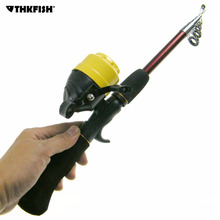 THKFISH 1.8M Casting Fishing Rod Reel Combo Lure Wight 5-15g Carbon Fiber Fishing Rod Pole Spin Cast Reel
