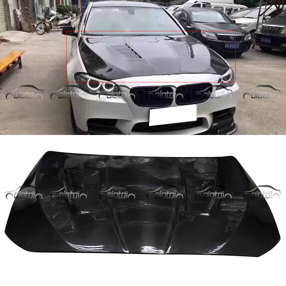 For BMW 5 Series F10 F11 H1 Style Carbon Fiber Hood Engine Cover Bonnet Car Styling