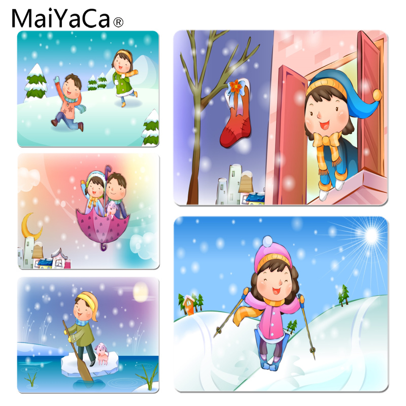 MaiYaCa New Printed Illustration happy childhood Computer Gaming Mousemats Size for 180x220x2mm and 250x290x2mm Small Mousepad