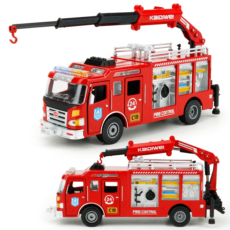 Kids Alloy Die-cast Car Model Rescue FireTruck model Vehicle Toy Vehicle 1:50 Gift