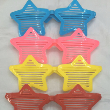Colorful Star Design Shutter Glasses light and easy to carry For Club And Party Night
