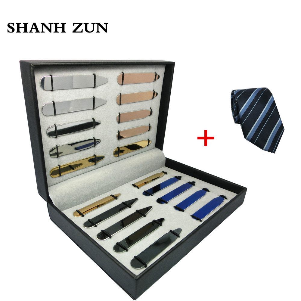 SHANH ZUN 20 Pcs High Grade Stainless Steel Collar Stays Tabs Bones 5 Colors in a Box Gift with a Tie wlxy wl 1301 high peed steel drills set 13 pcs page 5