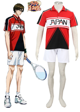 Free Shipping The Prince of Tennis New Japanese Tennis Team Summer Uniform White Anime Cosplay Costume