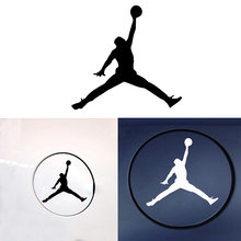 Fashion Michael Jordan logo Flying Man Sign Car Stickers Vinyl Decal For Cars Decoration Accessories Removable Waterproof(China)
