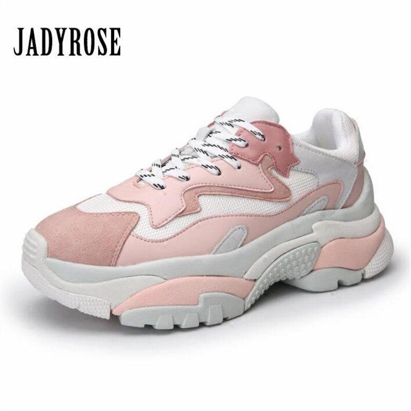 Jady Rosa Delle Donne Scarpe Da Tennis Della Piattaforma Delle Signore di Modo di Spessore Suola Scarpe Donna Creepers Appartamento Calzature Tenis Feminino Espadrillas