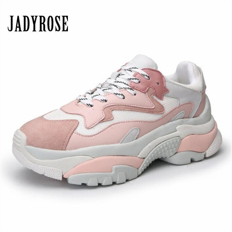 Jady Rose Women Platform Sneakers Fashion Ladies Thick Sole Shoes Woman Creepers Flat Footwear Tenis Feminino Espadrilles ladies shoes espadrilles luxury women creepers 2016 wedge shoes woman genuine leather women creepers fashion platform shoes