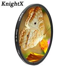 KnightX colse עד מאקרו 10 + עדשת מסנן קו 49mm 52mm 55mm 58mm 67MM 72mm 77mm עבור nikon sony canon תמונה זכוכית מצלמה d5300