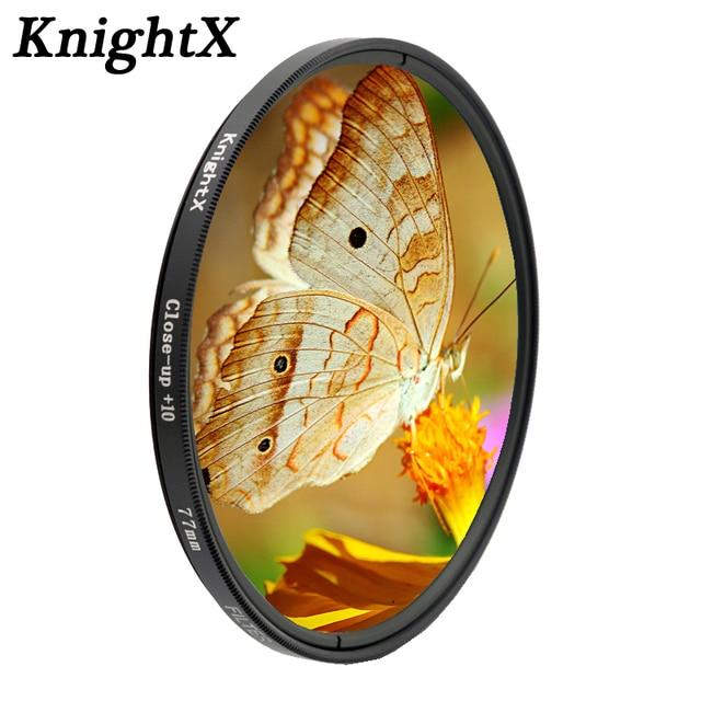 Макрообъектив KnightX colse up 10 +, фильтр для объектива 49 мм, 52 мм, 55 мм, 58 мм, 67 мм, 72 мм, 77 мм, для nikon, sony, canon, стеклянная фотокамера d5300