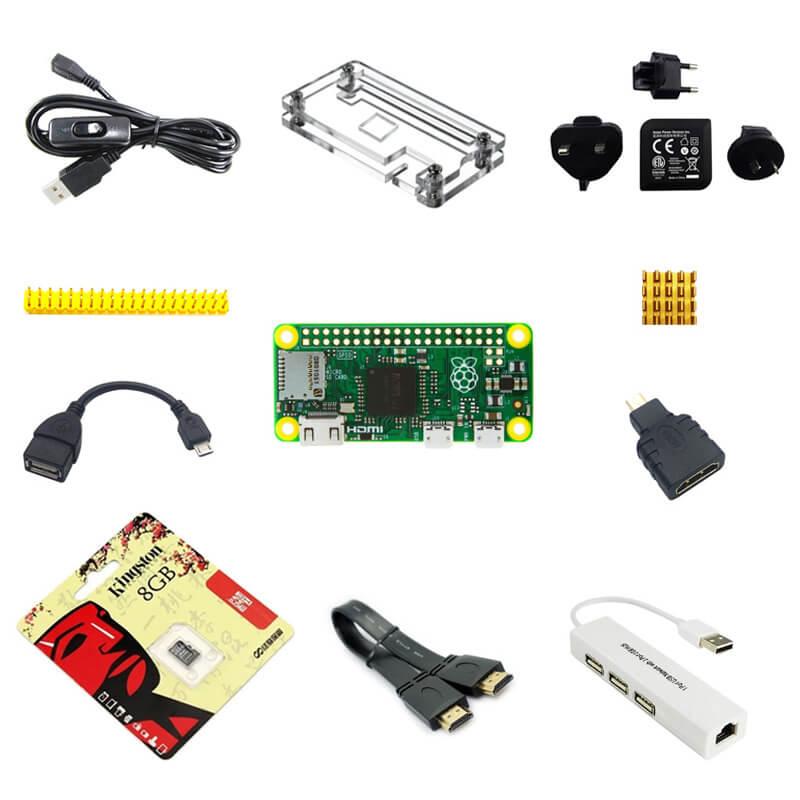 Prix pour Raspberry Pi zéro Pi0 Conseil Version 1.3 Linux avec cas Dissipateurs SD carte puissance OTG hdmi et ainsi de suite