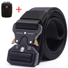 купить Tactical Military Belt Men Nylon Belt Metal Buckle for Outdoor Activity and Daily Wearing Quick Release Gear Clip дешево