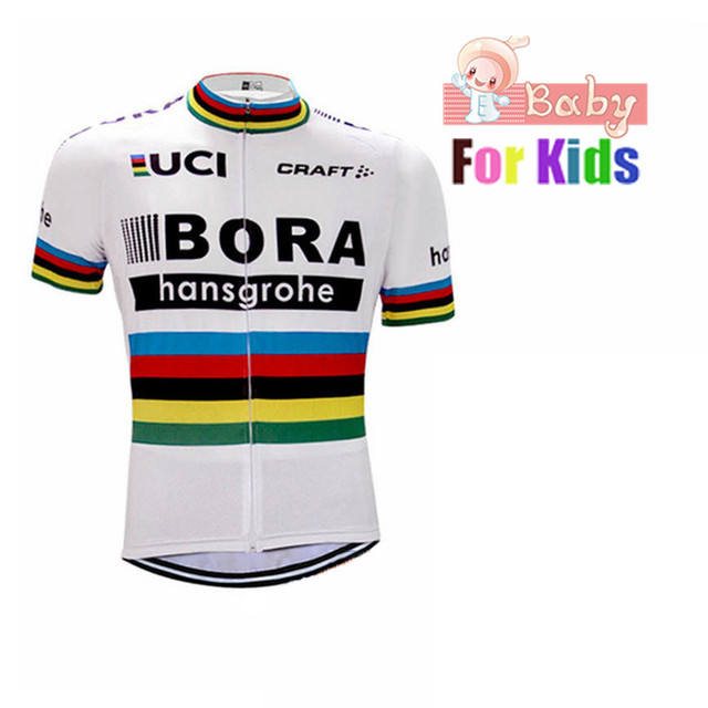 Girls Cycling Jersey 2018 Pro Team Bora Boys Breathable Bike Jersey Cycling  Clothing Kids Maillot Ciclismo Mountain Bike Jersey 8e9c61e34