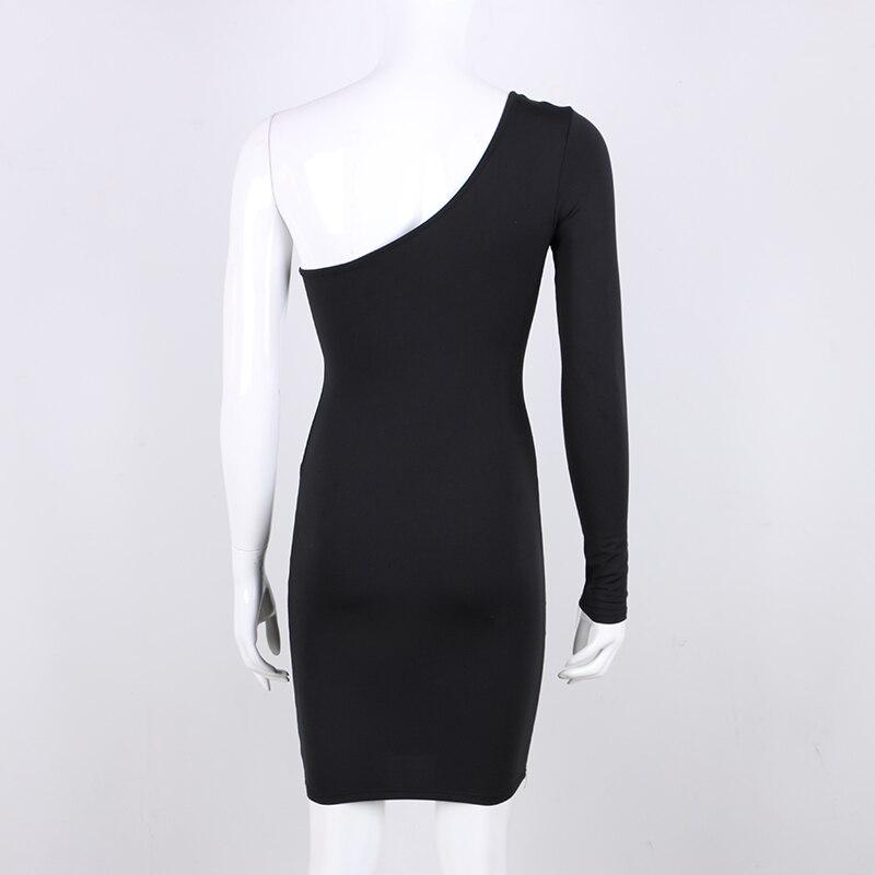 spring long sleeve elastic slim wrap mini dress red black white (4)