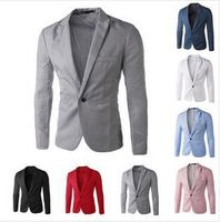 2016 New Arrival Men Suit Blazer Men Solid Color Fashionable Casual Blazer Masculino One Button Blazer