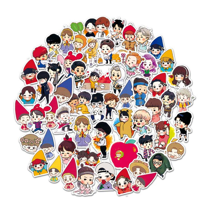 Beads & Jewelry Making Humorous Kpop Exo Sehun Chanyeol Cute Pvc Sticker For Laptop Cup Notebook Scrapbook Diy Stickers Waterproof Moderate Price Jewelry Findings & Components