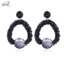 Badu Geometric Sequins Crochet Earrings for Women Big Statement Earring Fashion Jewelry Gift Girls Wholesale