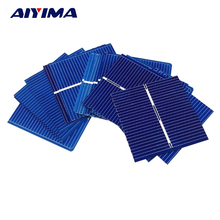 AIYIMA 100pcs 0.5V 0.25W 0.5A 39 * 39mm Polycrystalline Silicon Solar Panel DIY Charger Battery Solar Cell