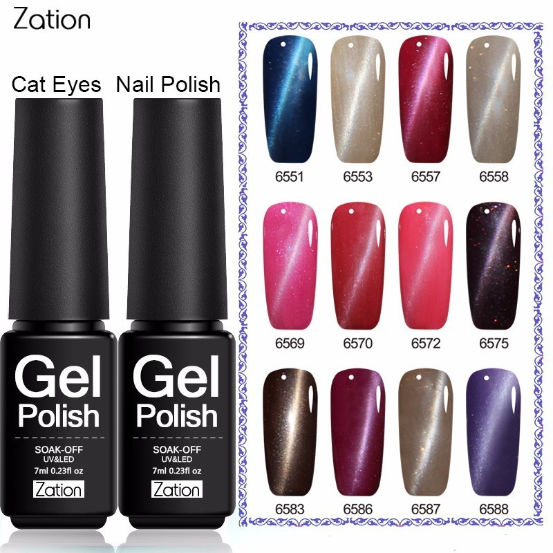 zation 3d cat eyes professional glue nails soak off magnetic gel uv color semi permanent nail. Black Bedroom Furniture Sets. Home Design Ideas