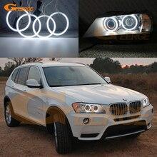 Для BMW X3 F25 2010 2011 2012 2013 ксенон отличное ультра-яркая подсветка с холодным катодом(CCFL) Ангельские глазки комплект Halo Кольцо