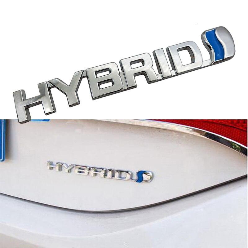 Fashion Metal Car Sticker Emblem Refitting Badge Decal For Hybrid Toyota Camry Rav4 Reiz Lexus BMW Audi Honda Auto Styling