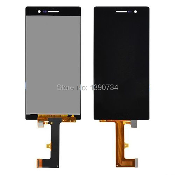 Black white ToP Quality new Full LCD Display + Touch Screen Digitizer Glass Assembly For Huawei Ascend P7 Free Shipping  top quality full lcd display touch screen digitizer assembly for huawei ascend w1 u00 c00 w1 replacement white