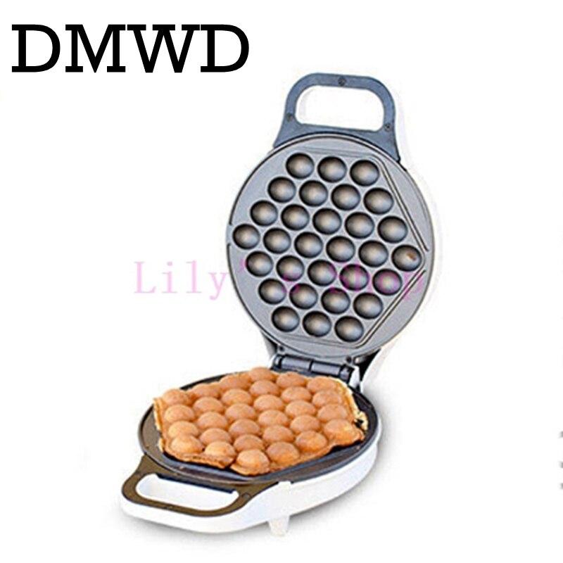 DMWD MINI portable Hong Kong electric eggs bubble waffle Maker QQ egg Aberdeen omelet machine eggettes puff cake pan EU US plug цена и фото
