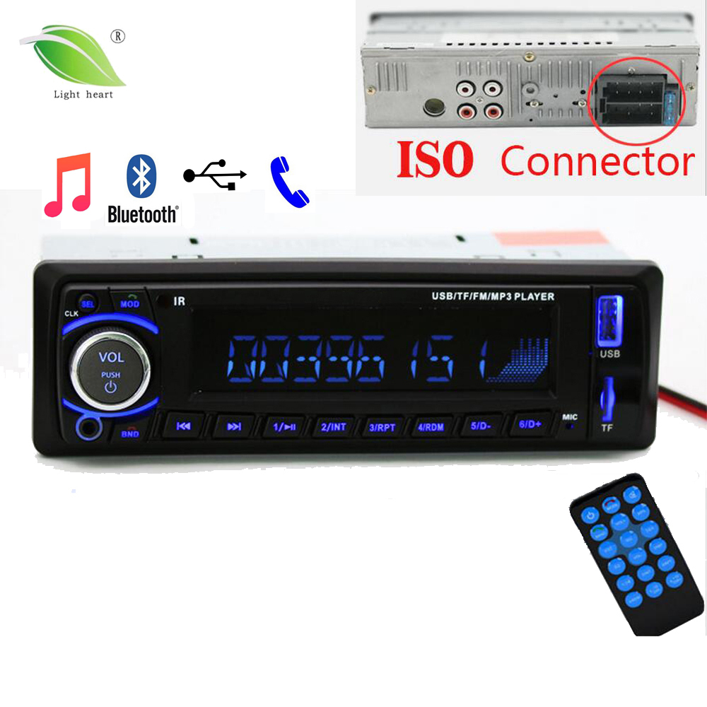 newest 12v car radio stereo auto audio player bluetooth phone aux in mp3 fm usb 1 din remote. Black Bedroom Furniture Sets. Home Design Ideas