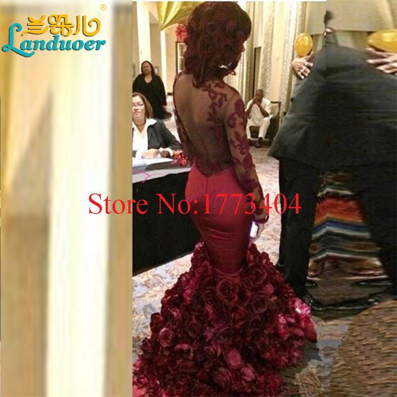 Sexy-Backless-Mermaid-Burgundy-Flower-Prom-Dresses-Custom-Made-Long-Sleeve-Flower-Cheap-Dress-Party-Evening