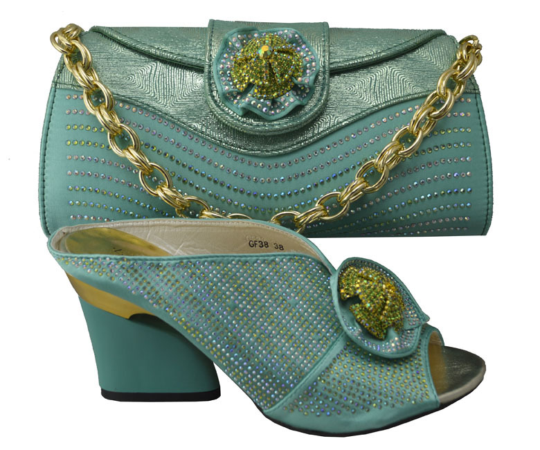 Shoes And Bag Set With Million Stone Italian Matching Bags Wedding Shoeatching Gf38 Purple Color In Women S Pumps From On