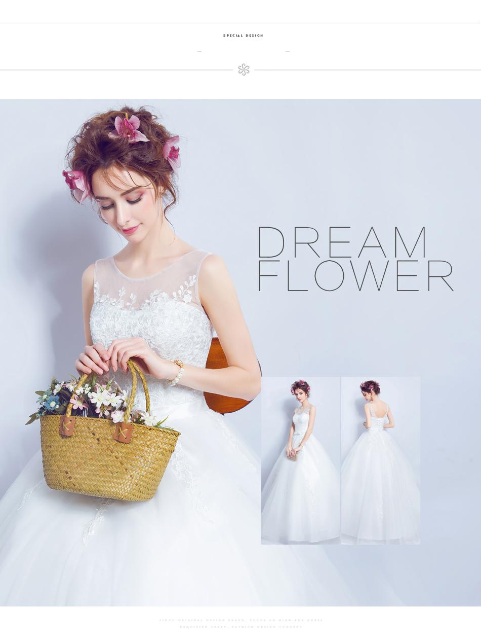 Angel Wedding Dress Marriage Bride Bridal Gown Vestido De Noiva 2017 Lace, flowers, perspective, backless 612 5