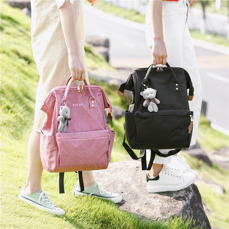 4933e99c09e6 Doughnut 2018 Pink Women Girls Backpacks Kanken Students Travel Bags Casual  School Bags for Teenage Girls