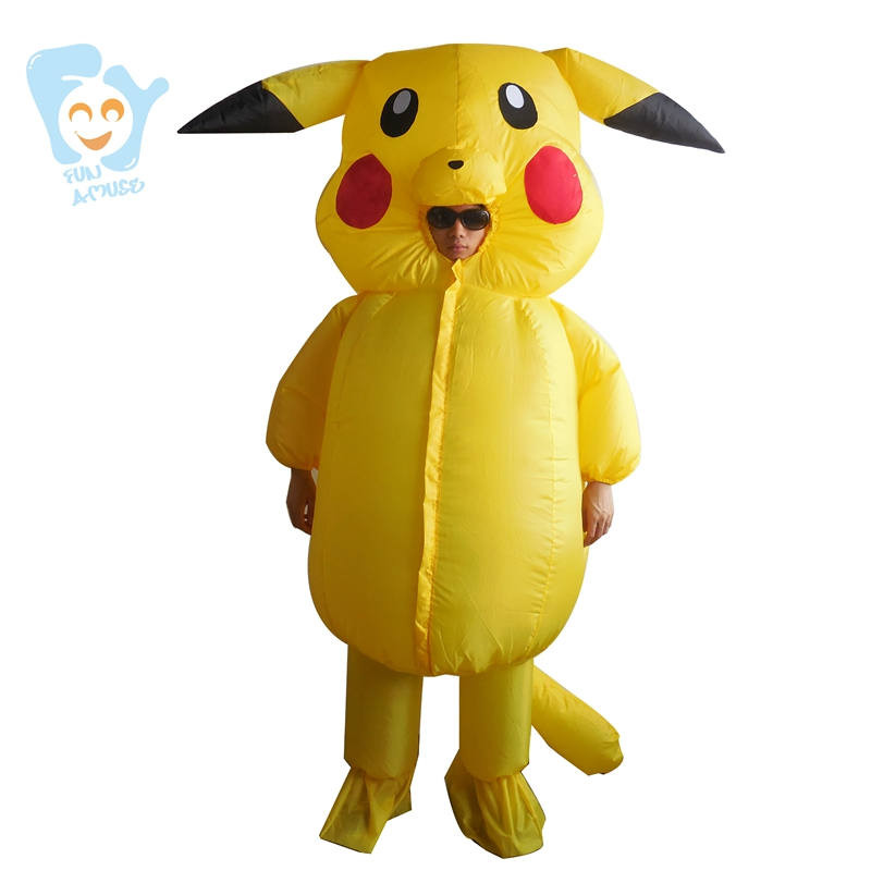 Pikachu Costume Cosplay Pokemon Inflatable Halloween -2373