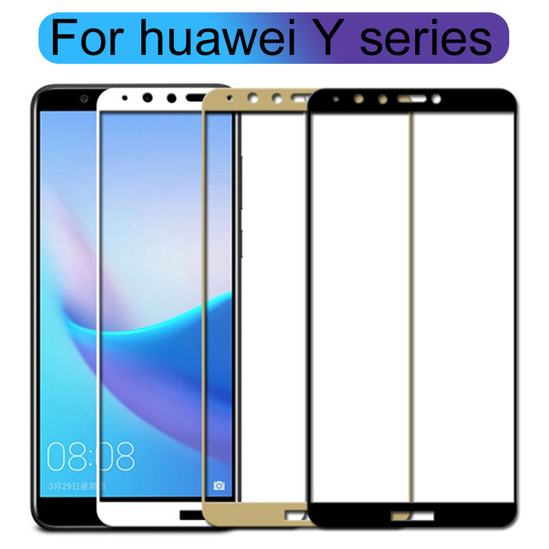 Tempered Glass For <font><b>Huawei</b></font> Y6 Prime <font><b>2018</b></font> <font><b>Case</b></font> Protective Glas On Honor Y3 Y5 Y7 Y9 2017 <font><b>Y</b></font> 3 <font><b>5</b></font> 6 7 9 3y 5y 6y 7y 9y 9H Cover Film image