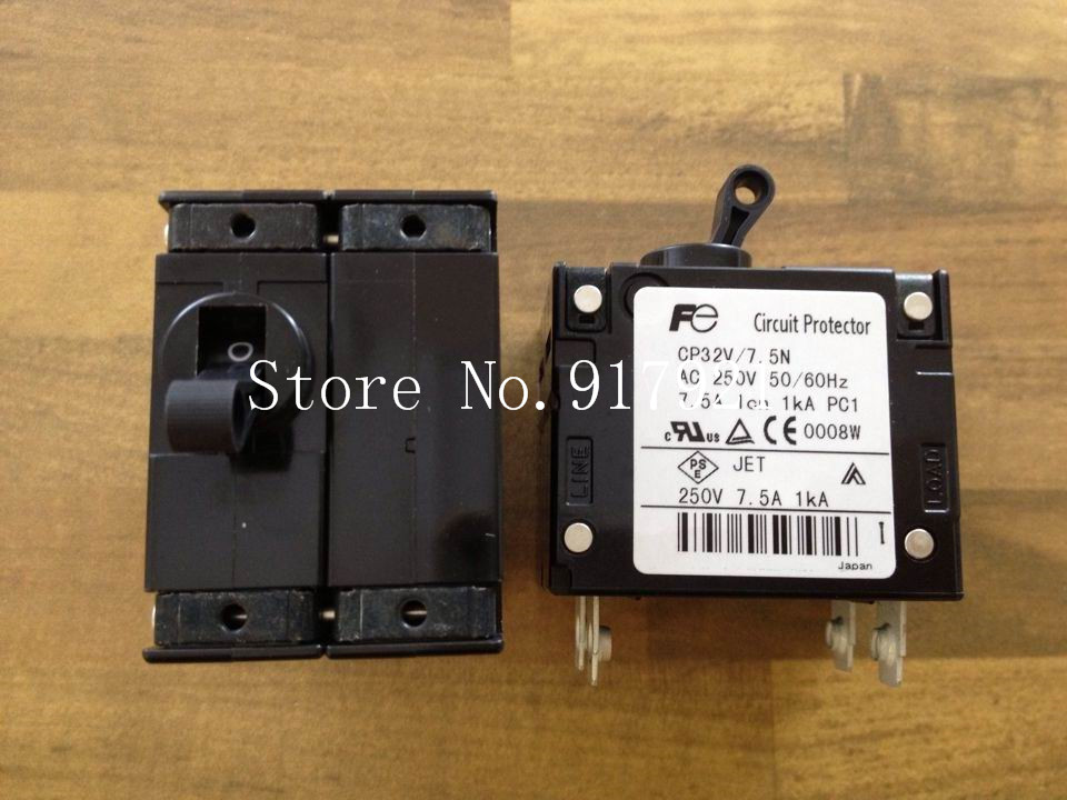 [ZOB] Fuji CP32V/7.5N single handle equipment circuit breaker CP32-1S7P5N2 250V7.5A genuine original  --5pcs/lot