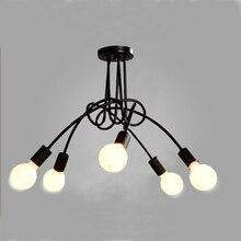 Modern black painted art deco pendant lights iron retro painted light E27 LED 220V lamp for bedroom kitchen restaurant parlor