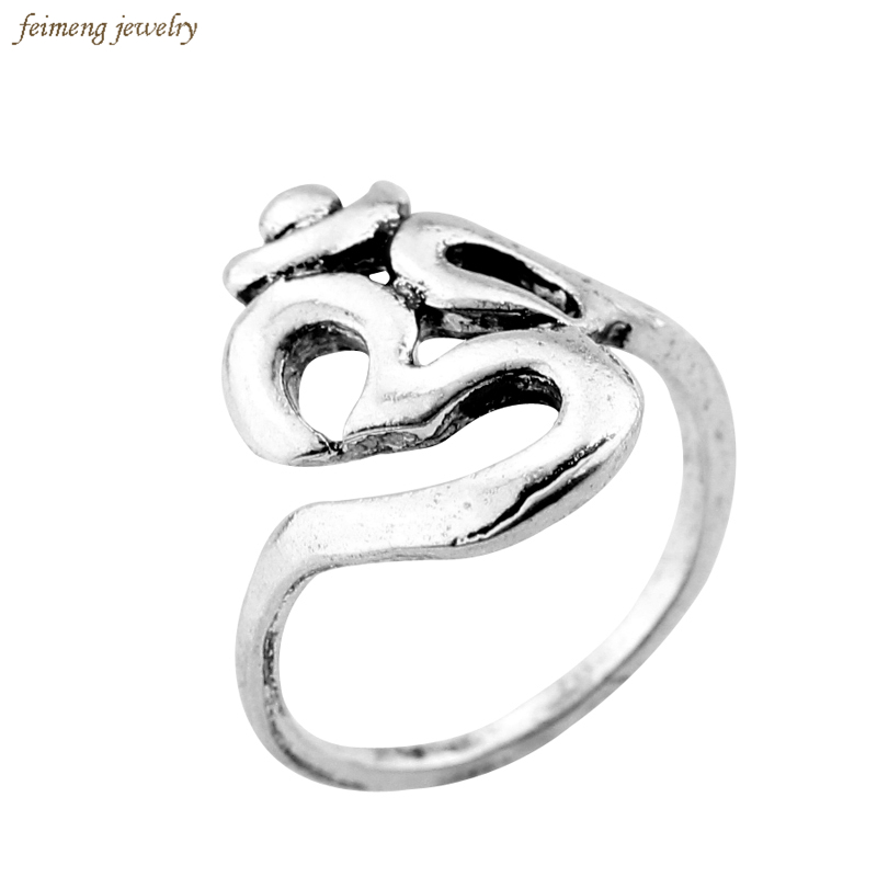 New Hindoo Jewelry OHM Hindu Buddhist AUM OM Ring Hinduism Yoga India Outdoor Sport Women Men Ring Religious Symbol Jewelry