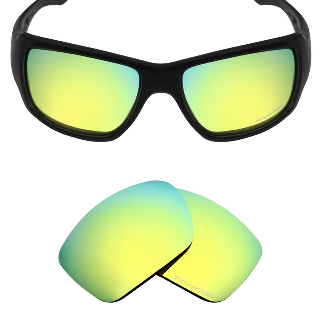 92375ae8a8 Mryok+ POLARIZED Resist SeaWater Replacement Lenses for Oakley Big Taco  Sunglasses 24K Gold