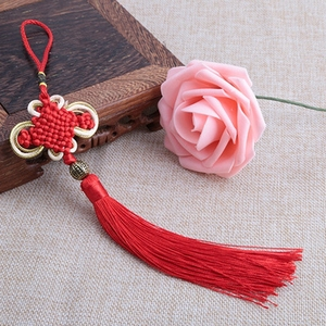 Image 5 - Tassel Craft Knot Car Ornaments Tassel Pendant Crafts Auto Rearview Mirror Ornament Hanging Car Decoration Pendant