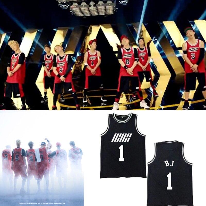 웃 유Kpop Ikon bi Bobby álbum Camisas k-pop casual Chaleco de ...