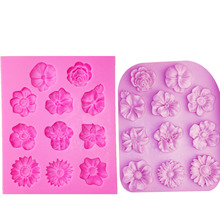 цена M1095 Sugarcraft Flower silicone mold fondant mold chrysanthemum cake decorating tools chocolate gumpaste mold в интернет-магазинах