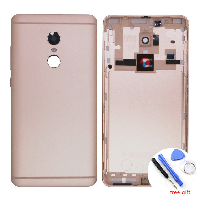 MPCQC Silver/Grey/Gold for Xiaomi Redmi Note 4 Replacement Battery Back Door Cover for Redmi Note 4x Cover Side Buttons + Camere