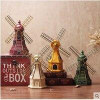 Vintage Dutch windmill model crafts, antique creative souvenir decoration gifts, desktop ornaments