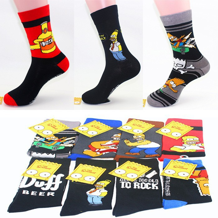 Special Offer Super Fashion Cartoon Cotton Socks Individuality Men Export Brand Socks Fashion Cartoon Socks For Man